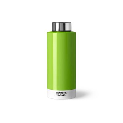 Pantone Steel Drinking Bottle - Colour of the Year 2017 Greenery
