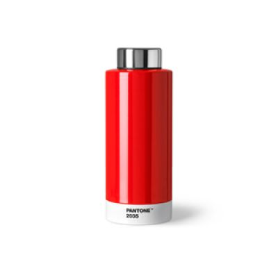 Pantone Steel Drinking Bottle - Red 2035