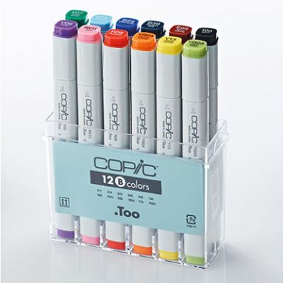 Copic Classic Marker 12 Colour Set Basic Colours