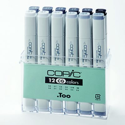 Copic Classic Marker 12 Colour Set Cool Grey