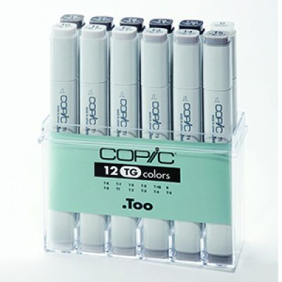 Copic Classic Marker 12 Colour Set A3 Toner Grey