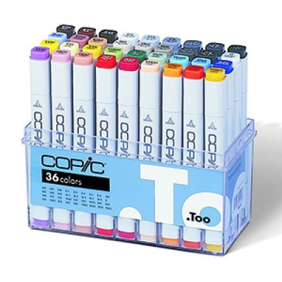 Copic Classic Marker 36 Colour Set Basic Colours