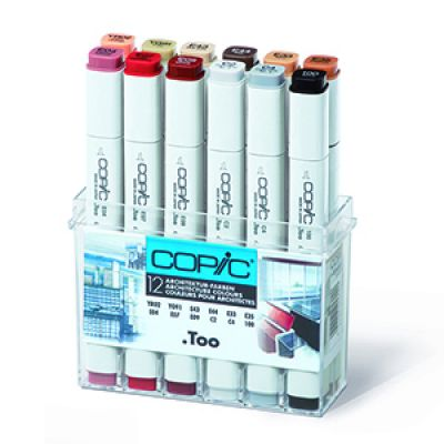 Copic Classic Marker 12 Colour Set Architecture Colours