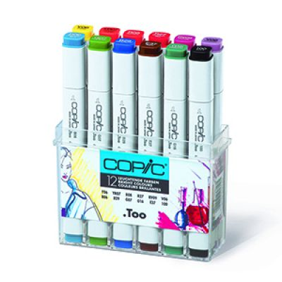 Copic Classic Marker 12 Colour Set Bright Colours