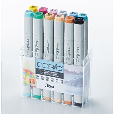 Copic Classic Marker 12 Colour Set Pastel Colours