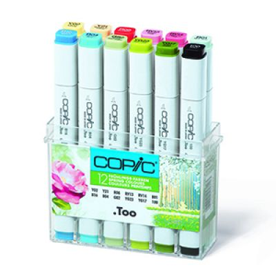 Copic Classic Marker 12 Colour Set Spring Colours