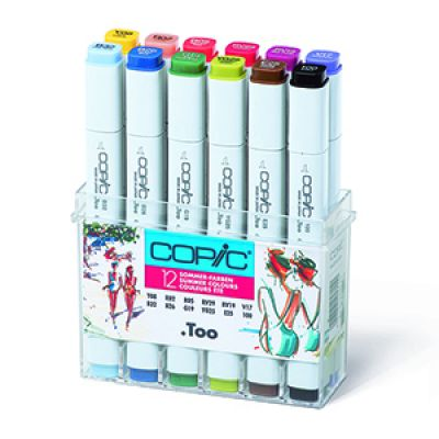 Copic Classic Marker 12 Colour Set Summer Colours