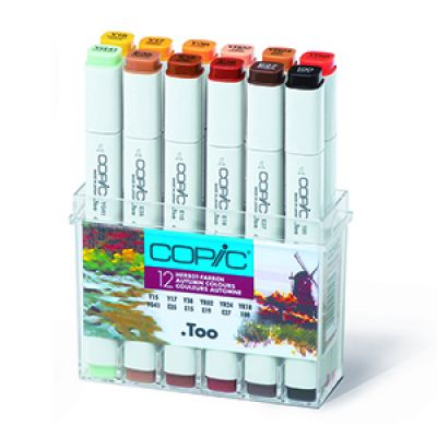 Copic Classic Marker 12 Colour Set Autumn Colours