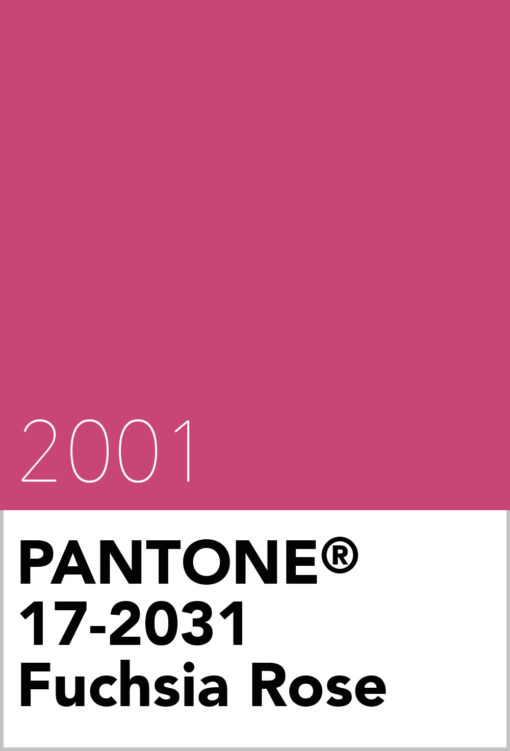 Pantone Colour Of The Year 2001