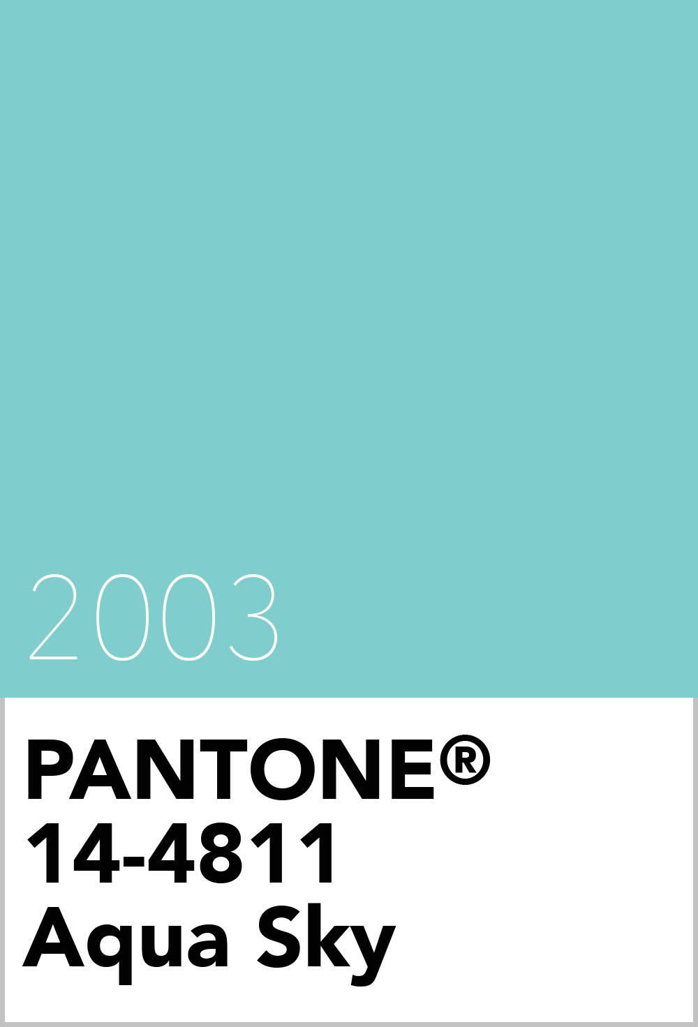 pantone colour of the year 2003