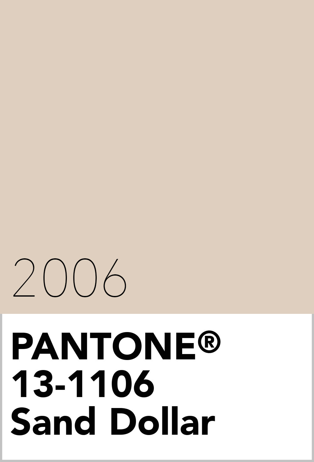 pantone colour of the year 2006