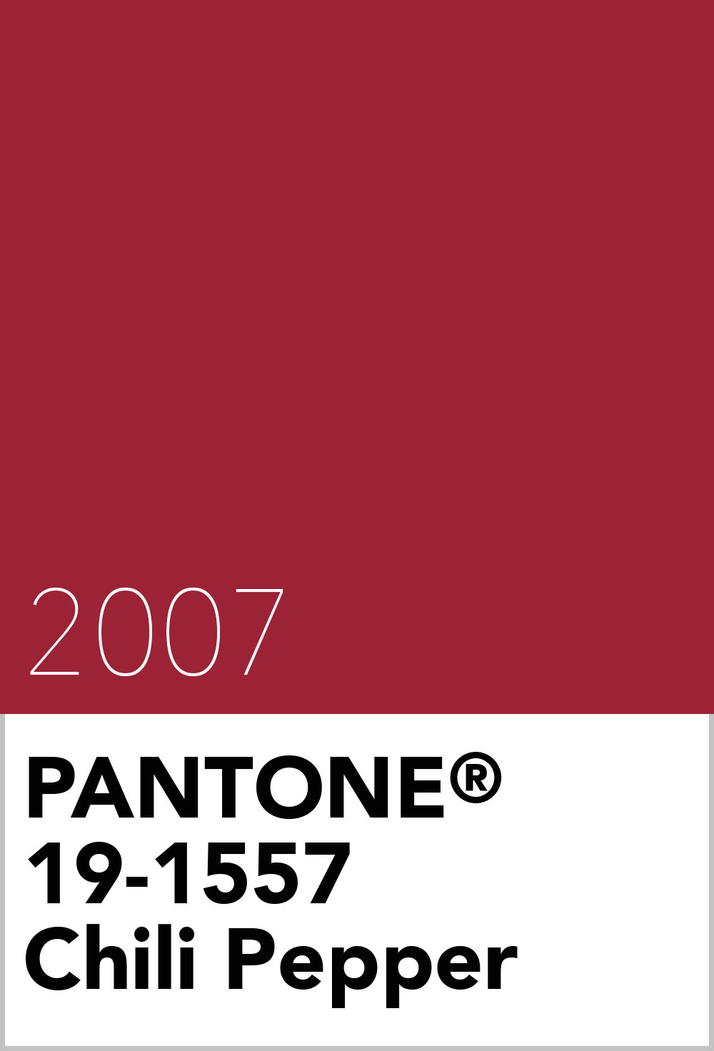 Pantone Colour Of The Year 2007